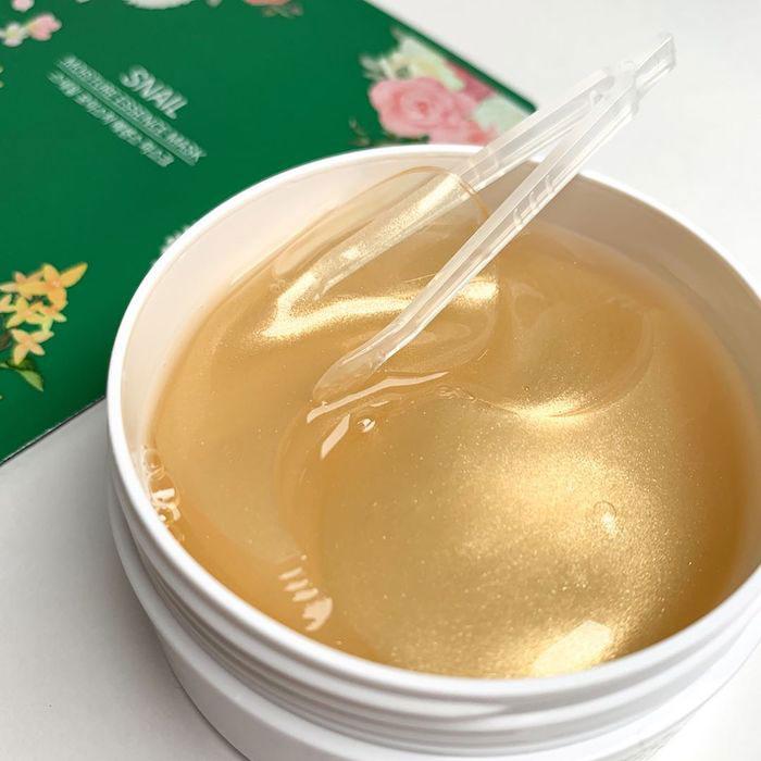 Гидрогелевые патчи с золотом и улиточным муцином Eyenlip Gold & Snail Hydrogel Eye Patch фото 3 | Sweetness