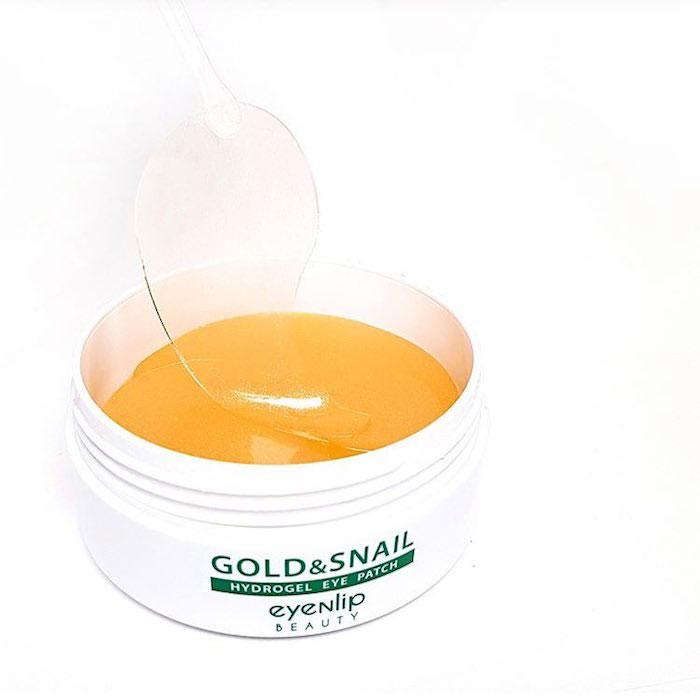 Гидрогелевые патчи с золотом и улиточным муцином Eyenlip Gold & Snail Hydrogel Eye Patch фото 7 | Sweetness