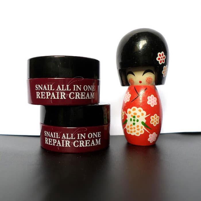 Многофункциональный улиточный крем Eyenlip Snail All In One Repair Cream фото 4 | Sweetness