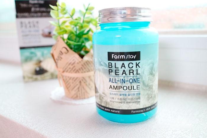 Farmstay Black Pearl All In One Ampoule Жемчужная омолаживающая сыворотка фото 2 / Sweetness