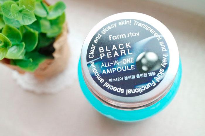 Farmstay Black Pearl All In One Ampoule Жемчужная омолаживающая сыворотка фото 3 / Sweetness
