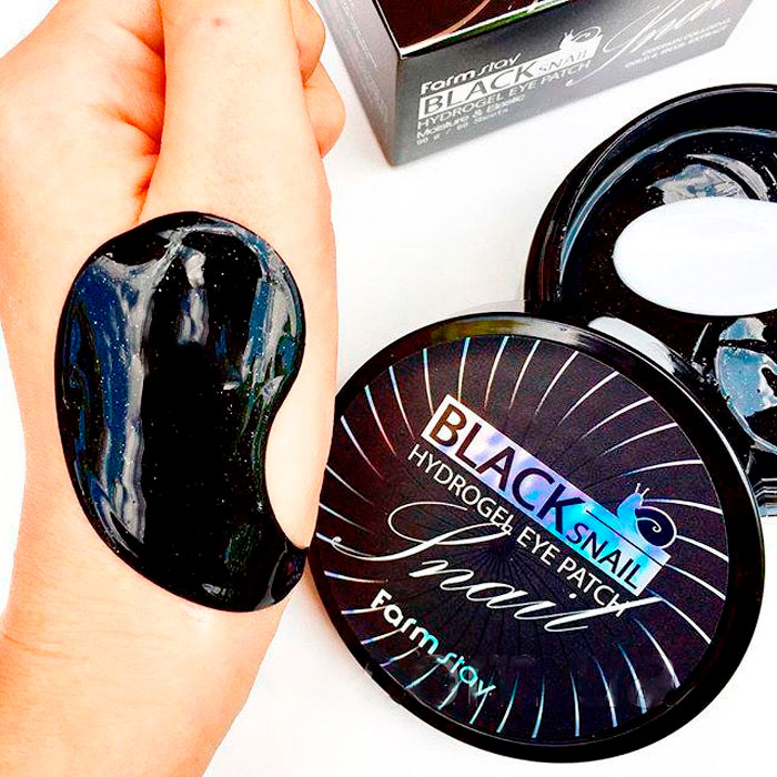 Гидрогелевые патчи для глаз с муцином черной улитки FarmStay Black Snail Hydrogel Eye Patch фото 4 / Sweetness