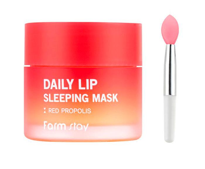 Farmstay Daily Lip Sleeping Mask Red Propolis Ночная маска для губ фото 2 / Sweetness