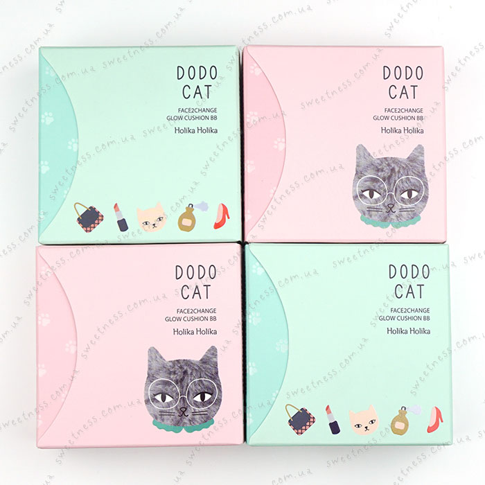 Кушон Holika Holika Face 2 Change DODO CAT Glow Cushion BB (DODO's Day Out) фото 1 | Sweetness