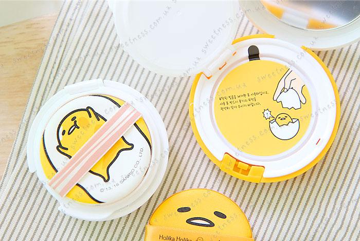 Кушон Holika Holika Gudetama Face 2 Change Photo Ready Cushion BB - CASE B фото 7 | Корейская косметика Sweetness