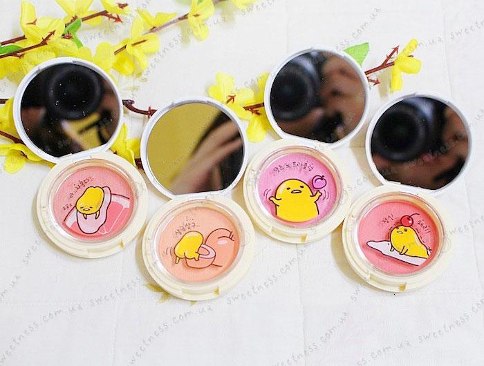Holika Holika Gudetama Jelly Dough Blusher Желейно-кремовые румяна фото 12 | Корейская косметика Sweetness