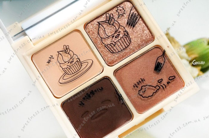 Holika Holika Gudetama Eye Shadow Kit Палетка теней для век 02 Tiramisu – тирамису фото 2 | Корейская косметика Sweetness