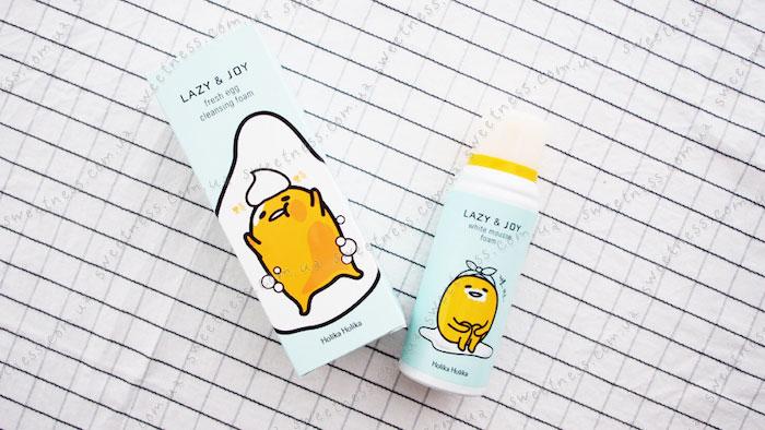 Holika Holika Gudetama White Mousse Foam Пенка для умывания-мусс для умывания фото 7 | Корейская косметика Sweetness