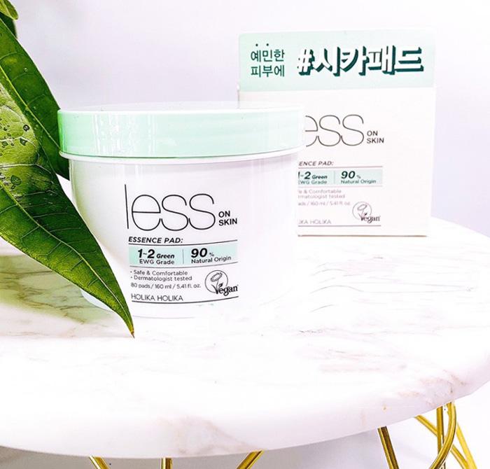 Диски для чувствительной кожи Holika Holika Less On Skin Essence Pad фото 1   Корейская косметика Sweetness