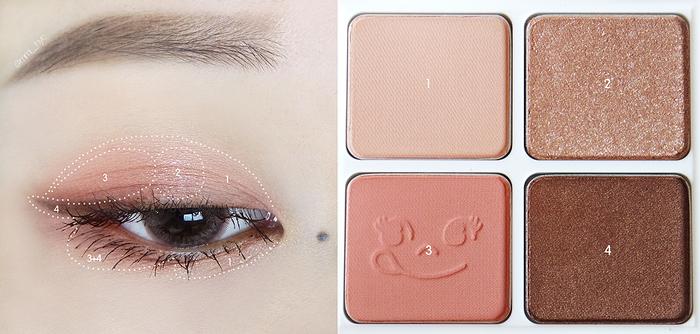 Holika Holika Peko Chan Piece Matching 4 Colors Shadow Палетки из 4х теней фото 4 | Sweetness