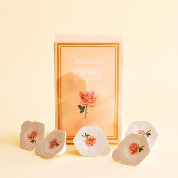 Энзимная пудра для умывания JMsolution Glow Luminous Flower Firming Powder Cleanswer Rose фото 1  Корейская косметика Sweetness
