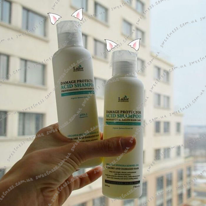 La'dor Damage Protector Acid Shampoo Бесщелочной шампунь с pH 4.5, фото 5 | Sweetness
