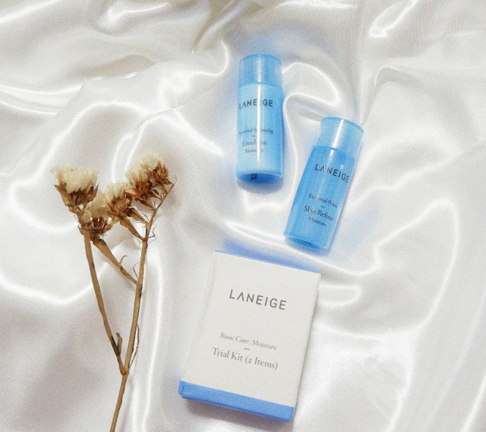 Набор миниатюр увлажняющих тонера и эмульсии Laneige Moisture Skin and Emulsion Kit фото 6 | Sweetness