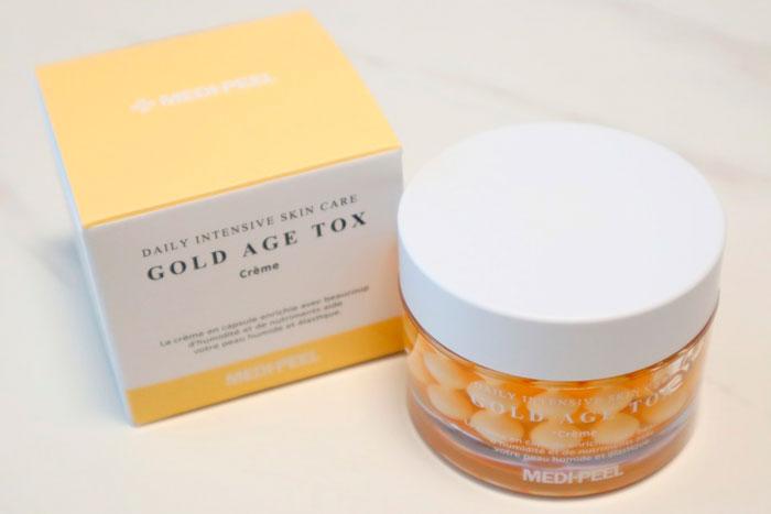 Medi-peel Gold Age Tox Cream Антивозрастной капсульный крем с экстрактом золотого шелкопряда фото 1 / Sweetness