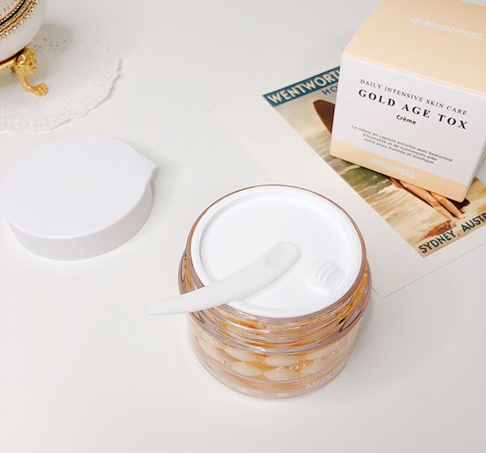 Medi-peel Gold Age Tox Cream Антивозрастной капсульный крем с экстрактом золотого шелкопряда фото 2 / Sweetness