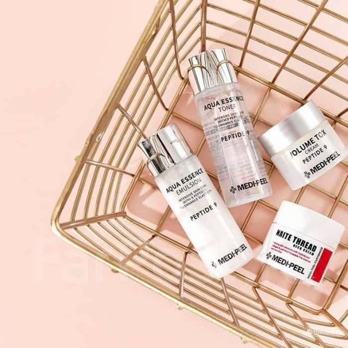 Косметический набор мини-средств с пептидами Medipeel Peptide Skincare Trial Kit фото 3| Корейская косметика Sweetness