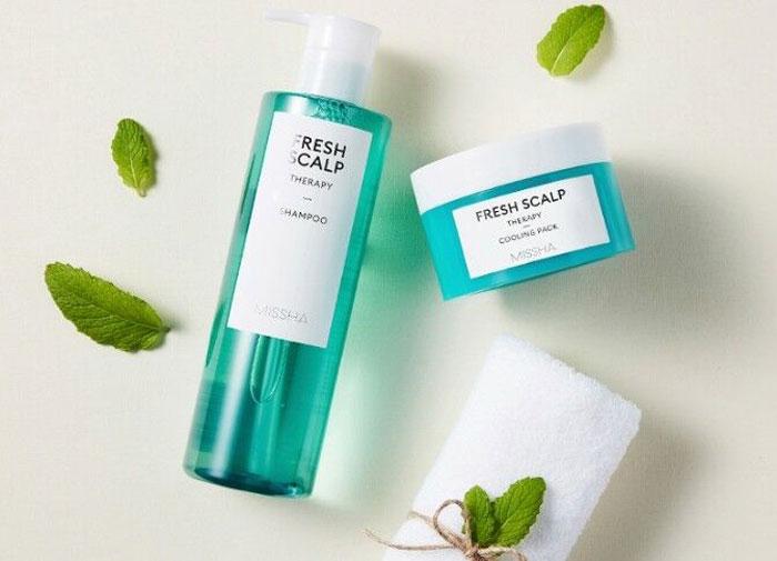 Охлаждающая маска для жирной кожи головы Missha Fresh Scalp Therapy Cooling Pack фото 1 / Sweetness
