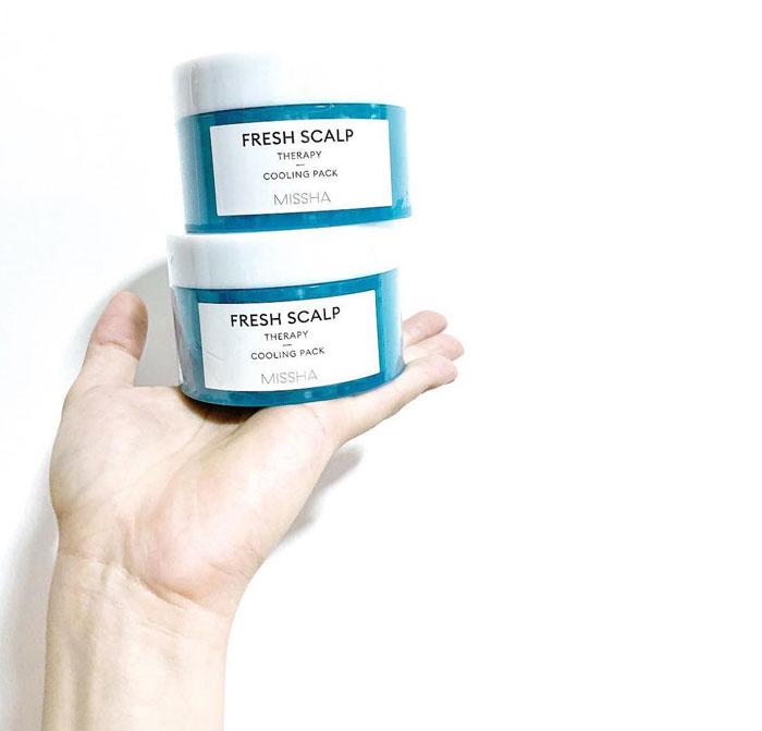 Охлаждающая маска для жирной кожи головы Missha Fresh Scalp Therapy Cooling Pack фото 2 / Sweetness