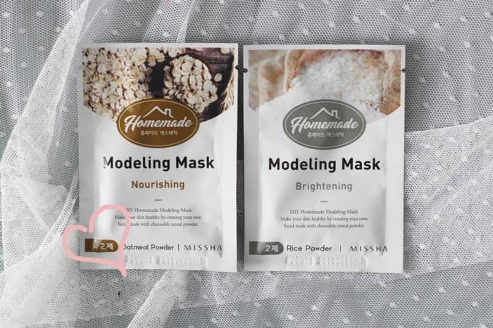 Питательная альгинатная маска для лица Missha Homemade Modeling Mask (Oatmeal) фото 2 / Sweetness