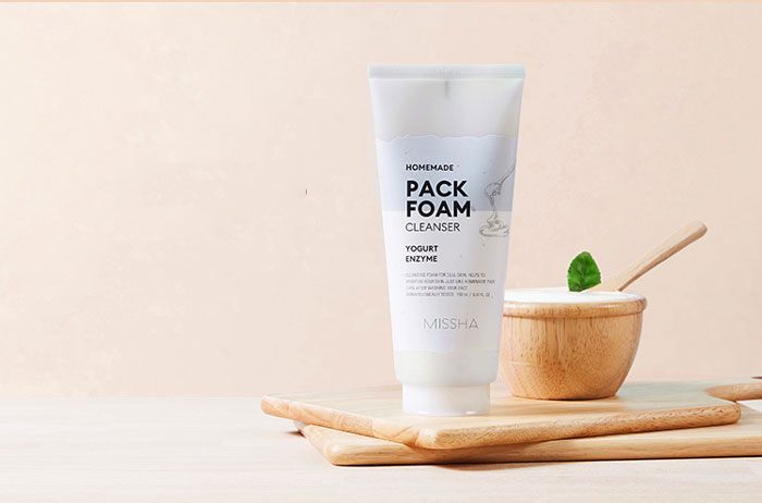 Маска-пенка для умывания - Йогурт и Энзимы Missha Homemade Pack Foam Cleanser (Enzyme Yogurt Pack Foam) фото 1 / Sweetness