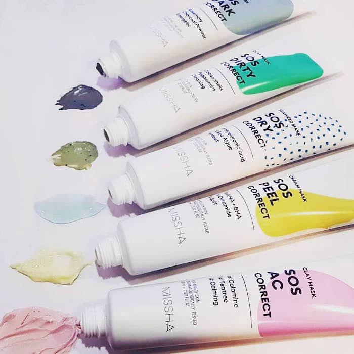 Кремовая пилинг-маска Missha Sos Peel Correct Cream Mask фото 3 / Sweetness