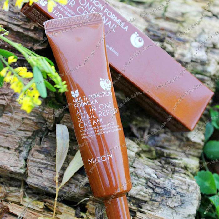 Свотчи улиточного крема 90% Mizon All in One Snail Repair Cream фото 11 |Sweetness