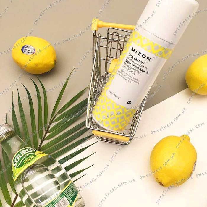 Витаминная маска-мусс Mizon Vita Lemon Sparkling Pack фото 6 | Sweetness
