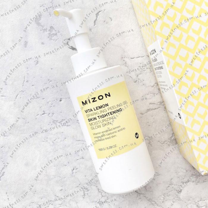 Лимонная пилинг-скатка Mizon Vita Lemon Sparkling Peeling Gel фото 4 | Корейская косметика Sweetness
