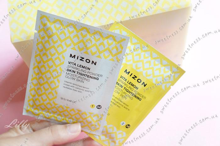 Mizon Vita Lemon Sparkling Powder Пудра для умывания фото 3 | Sweetness
