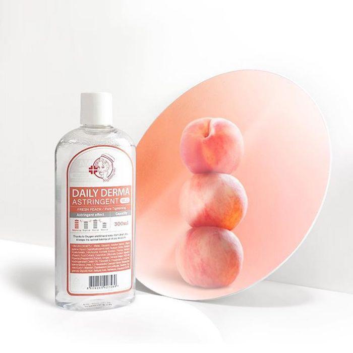 Мягкий тонер-пилинг с AHA и BHA кислотами Персиковый Nightingale Daily Derma Astringent Peach фото 1/ Sweetness
