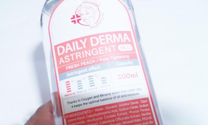 Мягкий тонер-пилинг с AHA и BHA кислотами Персиковый Nightingale Daily Derma Astringent Peach фото 3/ Sweetness