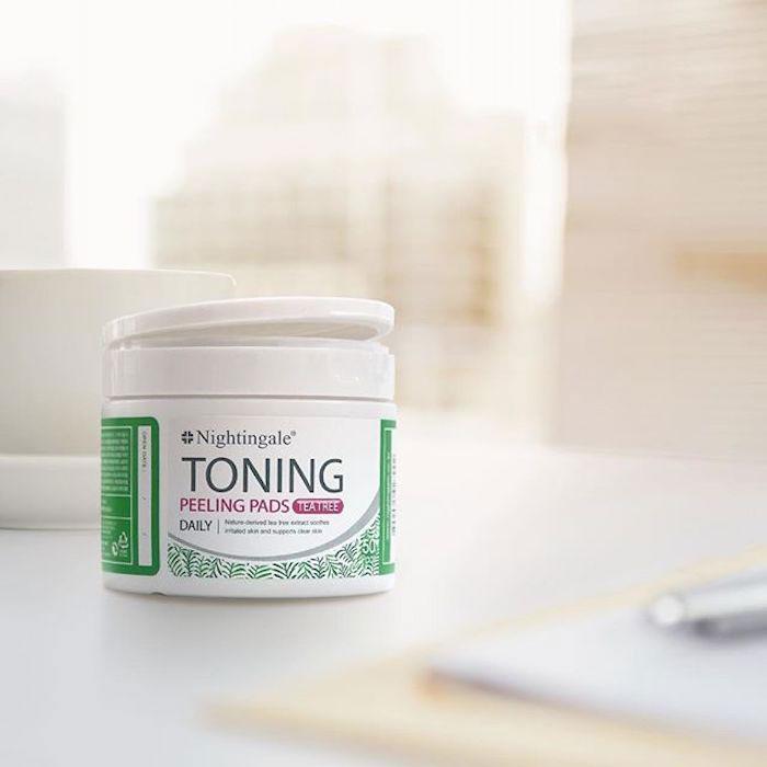 Спонжи для мягкого кислотного (0,5%) пилинга кожи с чайным деревом nightingale-toning-peeling-pads-tea-tree-pouch фото 2 | Sweetness