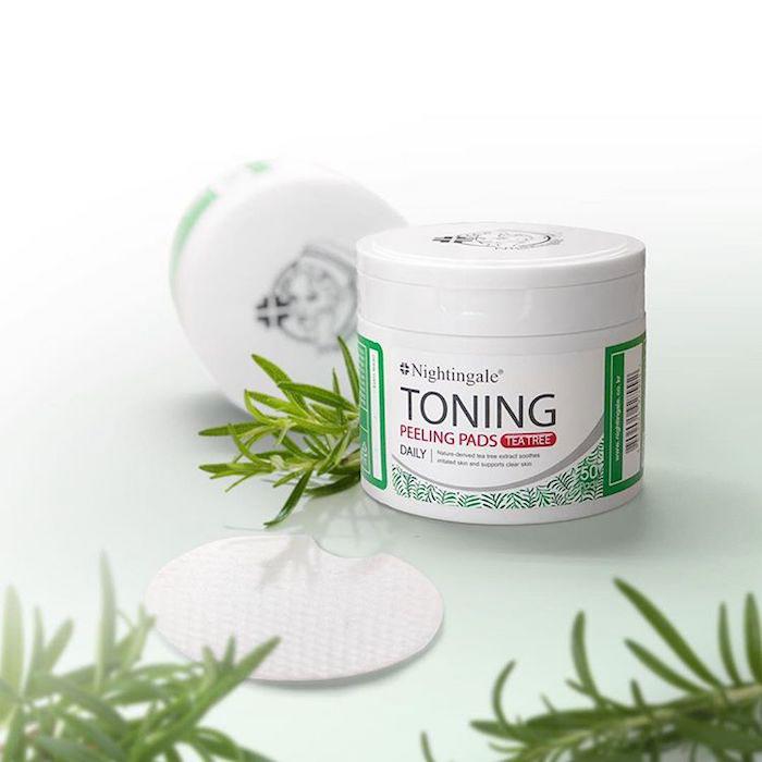Спонжи для мягкого кислотного (0,5%) пилинга кожи с чайным деревом nightingale-toning-peeling-pads-tea-tree-pouch фото 3 | Sweetness