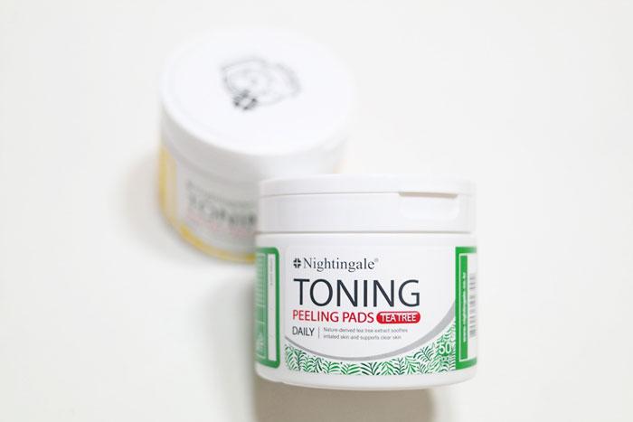 Спонжи для мягкого кислотного (0,5%) пилинга кожи с чайным деревом nightingale-toning-peeling-pads-tea-tree-pouch фото 4 | Sweetness