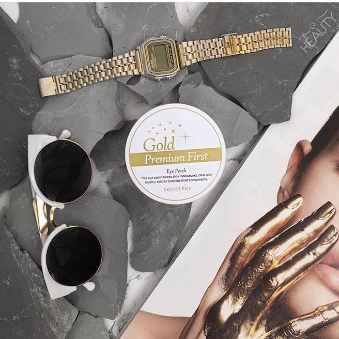 Secret Key Gold Premium First Eye Patch Гидрогелевые патчи с микрочастицами золота. Цены, отзывы, описание на Secret Key Gold Pr фото 1 | Sweetness