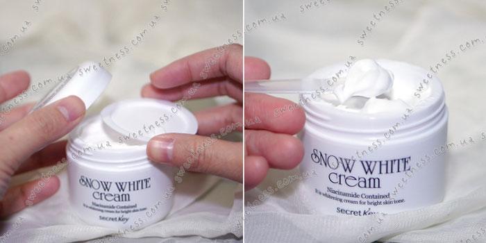 Secret Key Snow White Cream Осветляющий питательный крем фото 2 | Sweetness