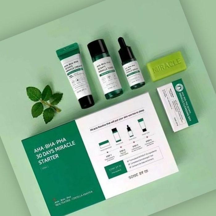 Набор мини-средств для проблемной кожи на 30 дней лечения SOME BY MI AHA.BHA.PHA 30 Days Miracle Starter Kit фото 1 | Корейская косметика Sweetness