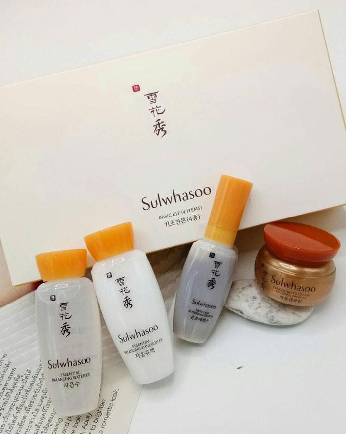 Набор миниатюр люксовых средств для ухода Sulwhasoo Basic 4 Kit фото 2 / Sweetness