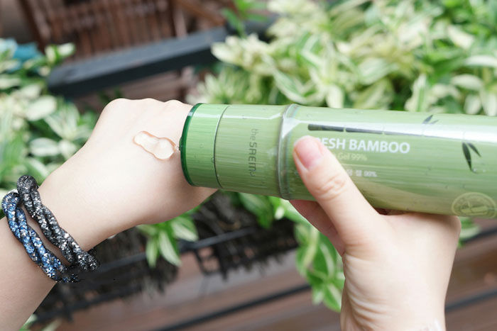 The Saem Fresh Bamboo Soothing Gel 99% Бамбуковый увлажняющий гель фото 8 | Sweetness