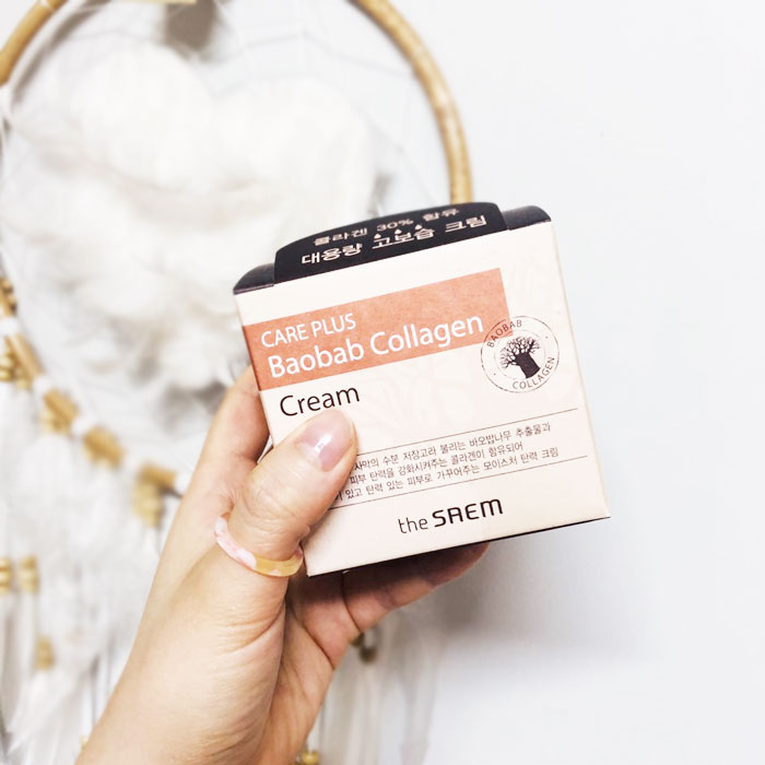 The Saem Care Plus Baobab Collagen Cream Коллагеновый крем с экстрактом баобаба фото 1 / Sweetness