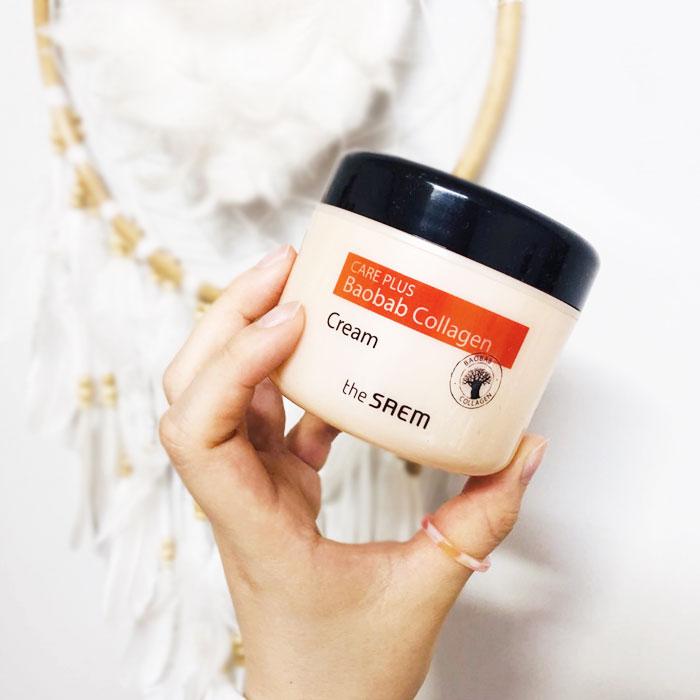 The Saem Care Plus Baobab Collagen Cream Коллагеновый крем с экстрактом баобаба фото 2 / Sweetness