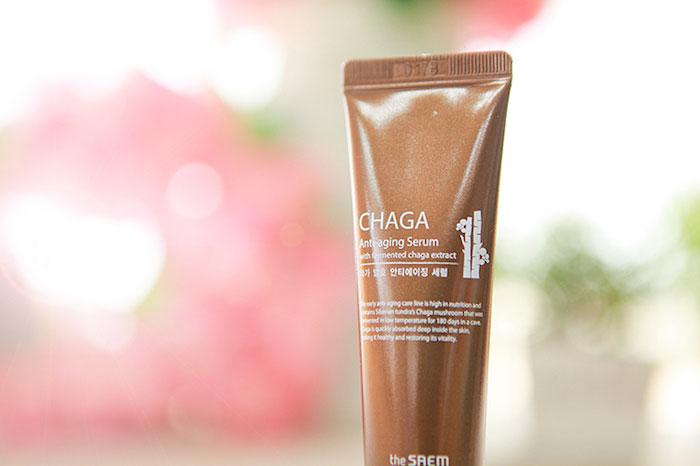 The Saem Chaga Anti-aging Serum Омолаживающая сыворотка с ферментированным экстрактом чаги фото 3 | Sweetness