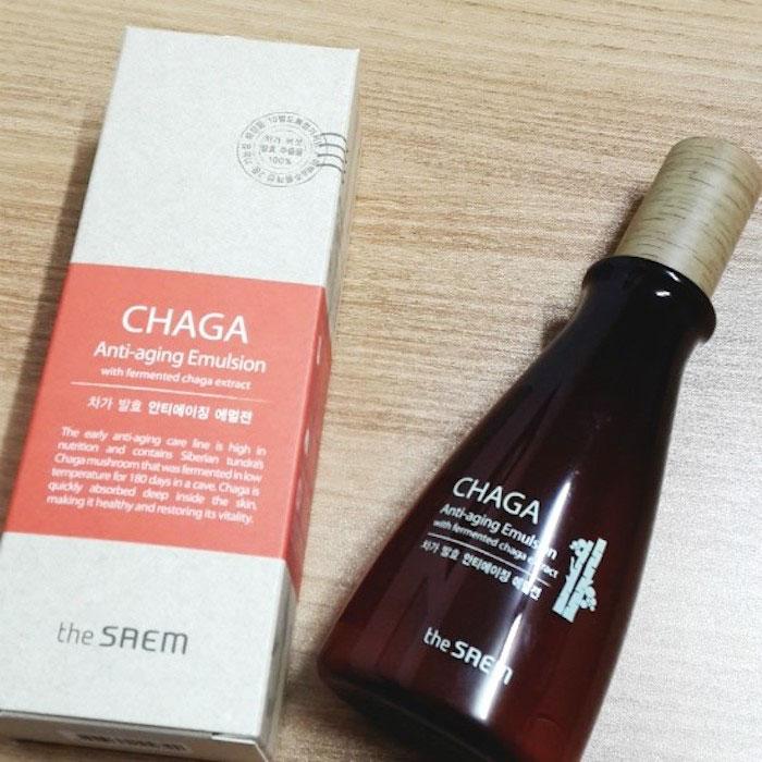 The Saem CHAGA Anti-wrinkle Emulsion Антивозрастная эмульсия с Чага фото 1 | Sweetness