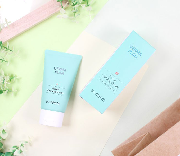 Успокаивающий крем для чувствительной кожи The Saem Derma Plan Green Calming Cream фото 1 / Sweetness