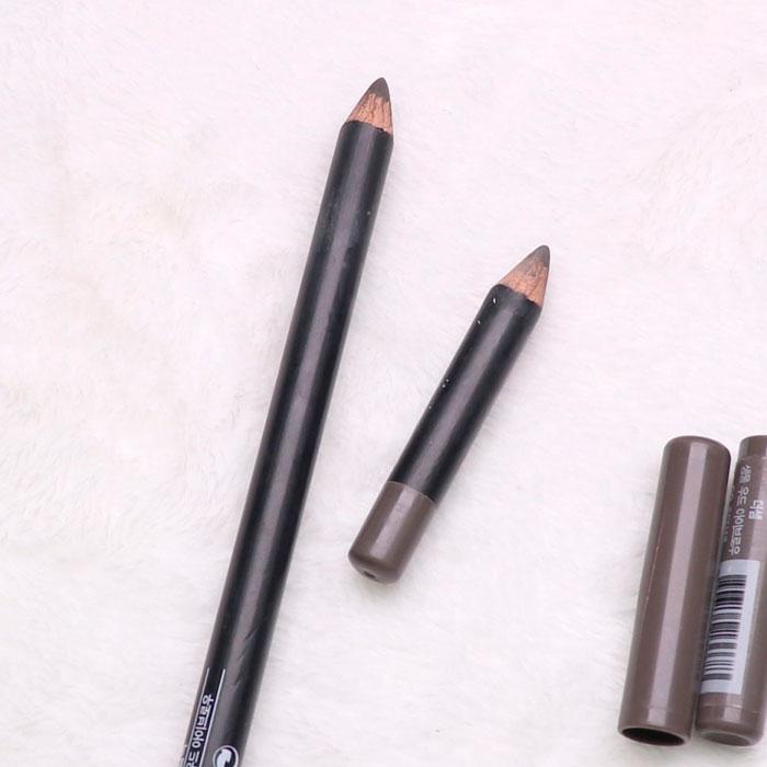 The Saem Saemmul Wood Eyebrow 02 Gray Brown Затачиваемый карандаш для бровей Серо-коричневый фото 2 / Sweetness