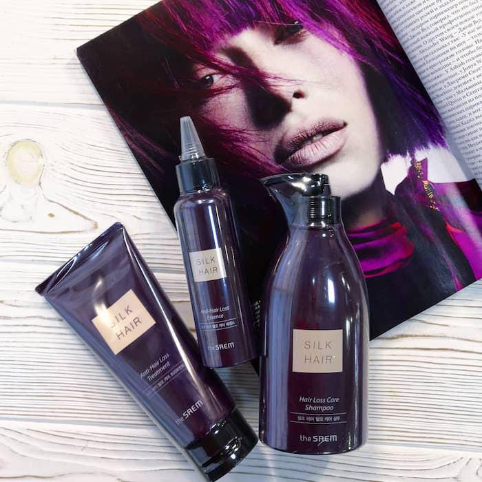 Шампунь против выпадения волос The Saem Silk Hair Hair Loss Care Shampoo фото 1 | Sweetness