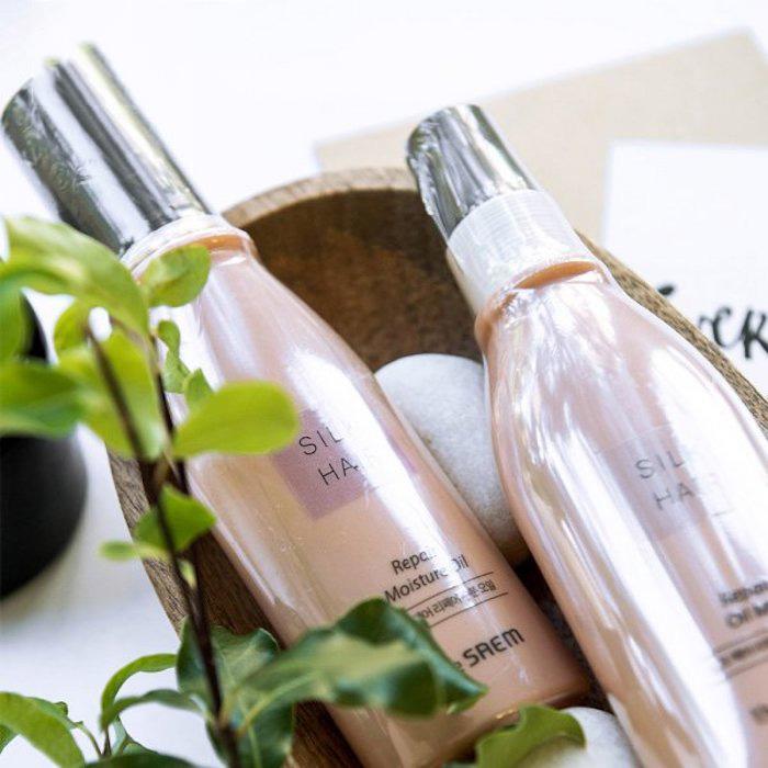Восстанавливающее масло для волос The Saem Silk Hair Repair Oil фото 4   Sweetness