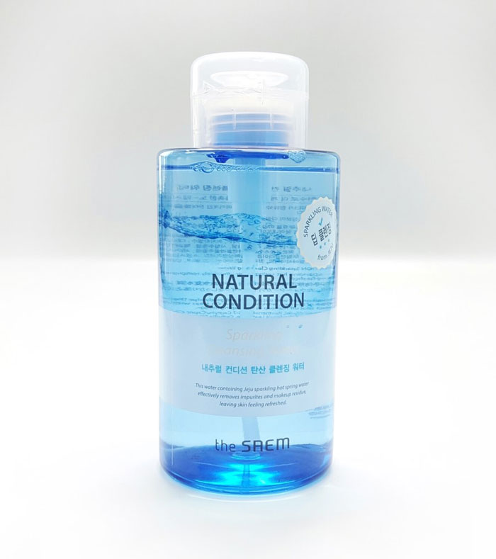 The Saem Natural Condition Sparkling Cleansing Water Мицеллярная вода, фото1 | sweetness.com.ua