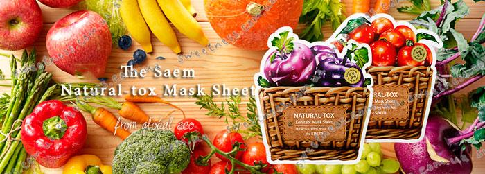 Resultado de imagen de The Saem Natural-Tox Orange Carrot Mask Sheet