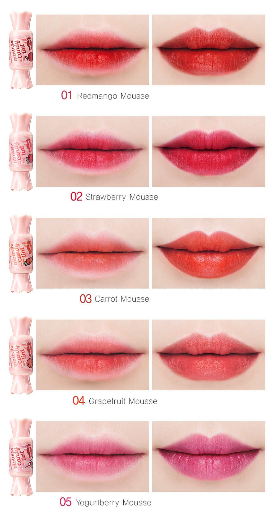 Тинт для губ Конфетка The Saem Saemmul Mousse Candy Tint фото 12 | Sweetness